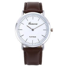 Load image into Gallery viewer, Men's Quartz Watch Retro Simple  Leather Band Watch Analog Ultra Thin Dial Quartz Wrist Watch שעון גברים horloge man