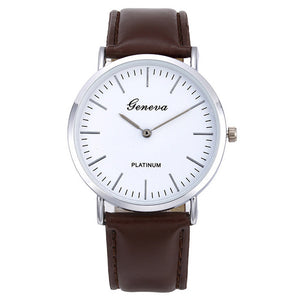 Men's Quartz Watch Retro Simple  Leather Band Watch Analog Ultra Thin Dial Quartz Wrist Watch שעון גברים horloge man