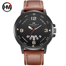 Load image into Gallery viewer, Mens Watches Top Luxury Brand Fashion Sport Men's Wristwatch Leather Quartz Military Watch Men Dispaly Date Week Clock Male 2018