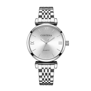 Women's Wrist Watch 2019 Luxury Brand Contena Ladies Quartz Watch Full Stainless Steel Female Clock Wristwatches reloj mujer