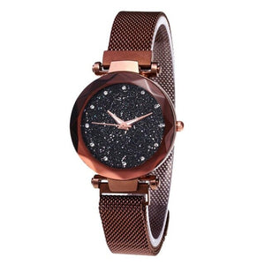 Fashion Watch Star Sky Watch Ladies Magnet Stone Milan Mesh Belt Women's Watch ladies watch watch women
