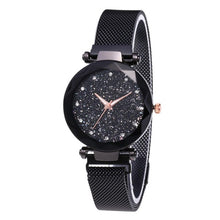 Load image into Gallery viewer, Fashion Watch Star Sky Watch Ladies Magnet Stone Milan Mesh Belt Women's Watch ladies watch watch women