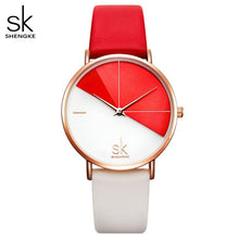 Load image into Gallery viewer, Shengke Women's Watches Fashion Leather Wrist Watch Vintage Ladies Watch Irregular Clock Mujer Bayan Kol Saati Montre Feminino
