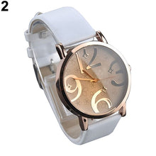 Load image into Gallery viewer, watches Women's Casual Flower Big Numbers Dial Faux Leather Strap Quartz Wrist Watch ladies watch orologio donna
