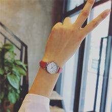 Load image into Gallery viewer, Exquisite small simple women dress watches retro leather female clock Bgg brand women's fashion mini design wristwatches clock
