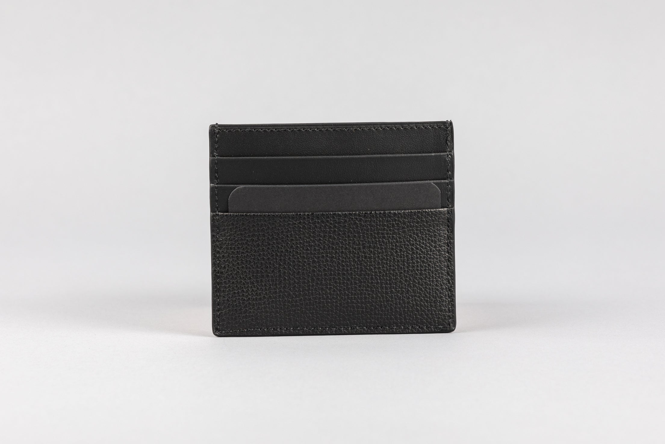 Black Calf Crumbs Card Holder (513MC)