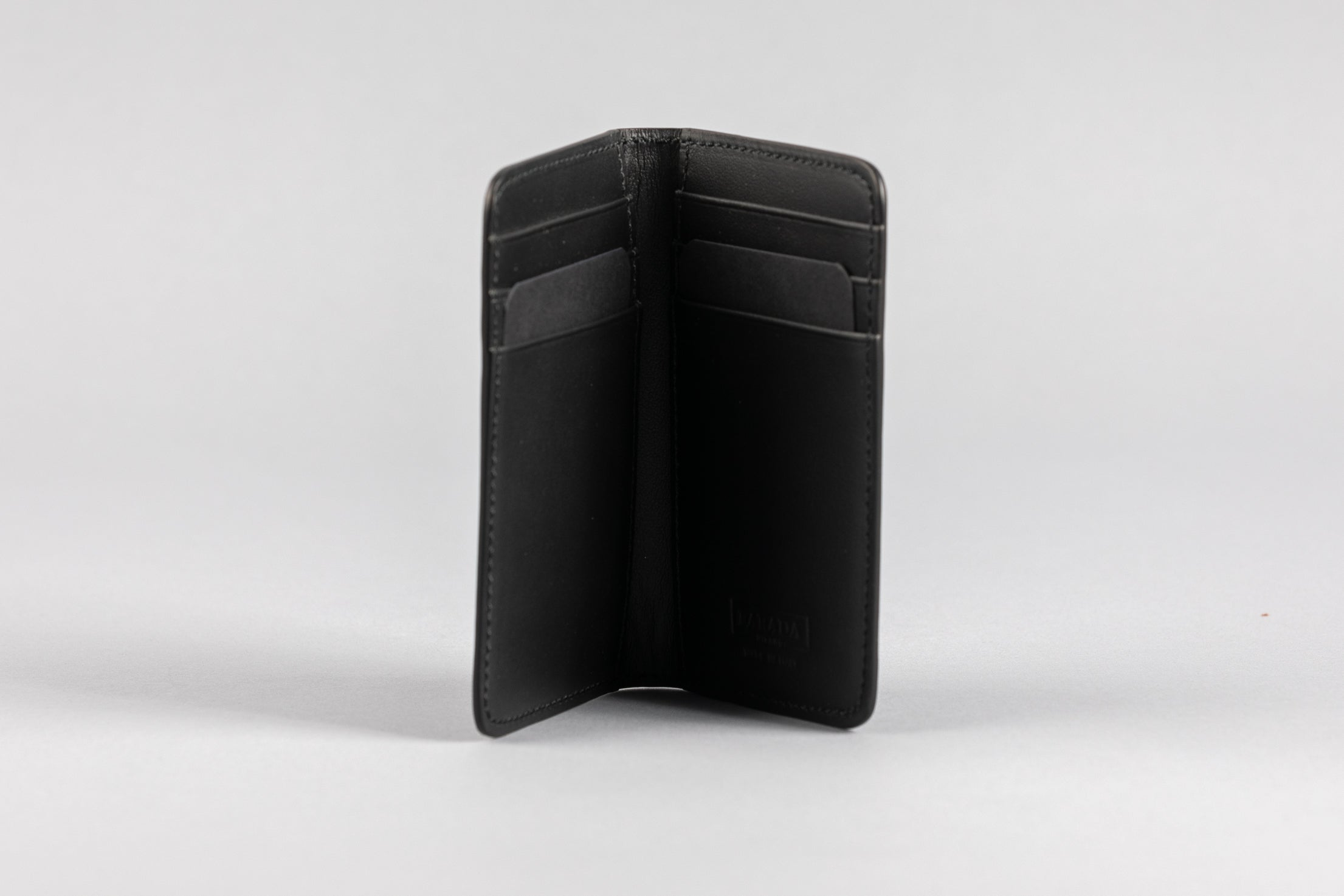 Black Calf Matte Card Holder (2053K)