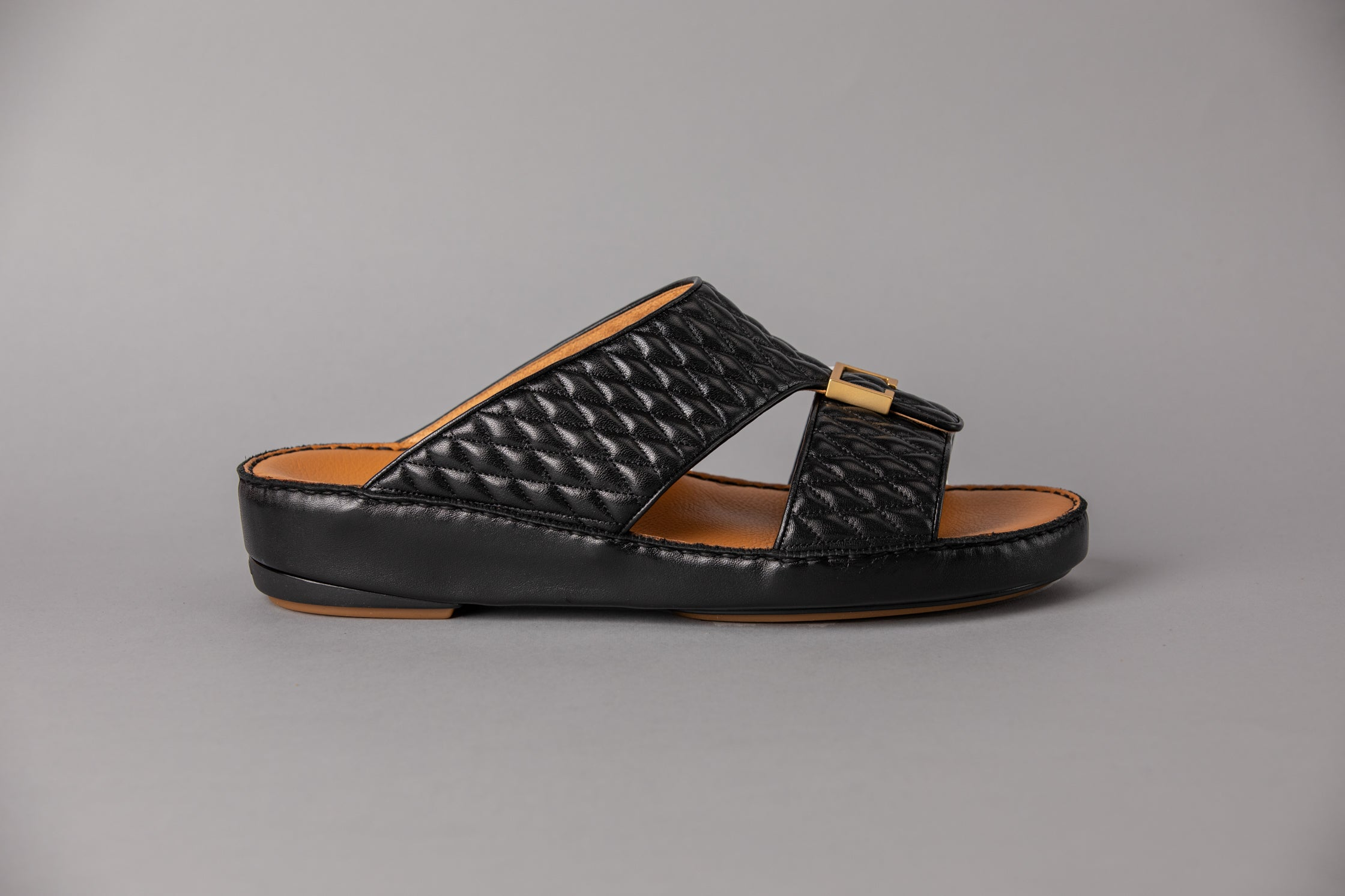 Aldo Diamond Black with Gold Arabic Sandal (4061PDC)