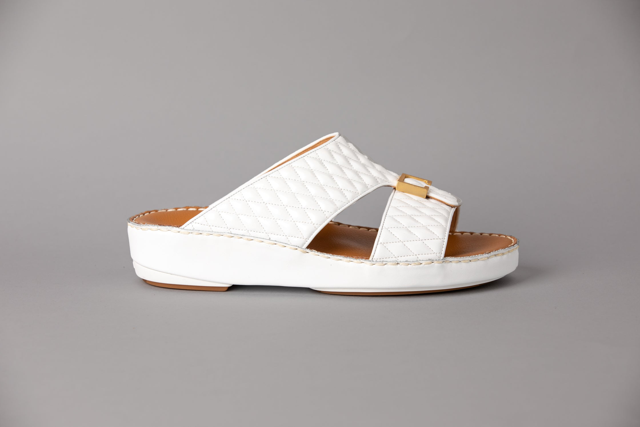Aldo Diamond White Arabic Sandal (4061PDC)