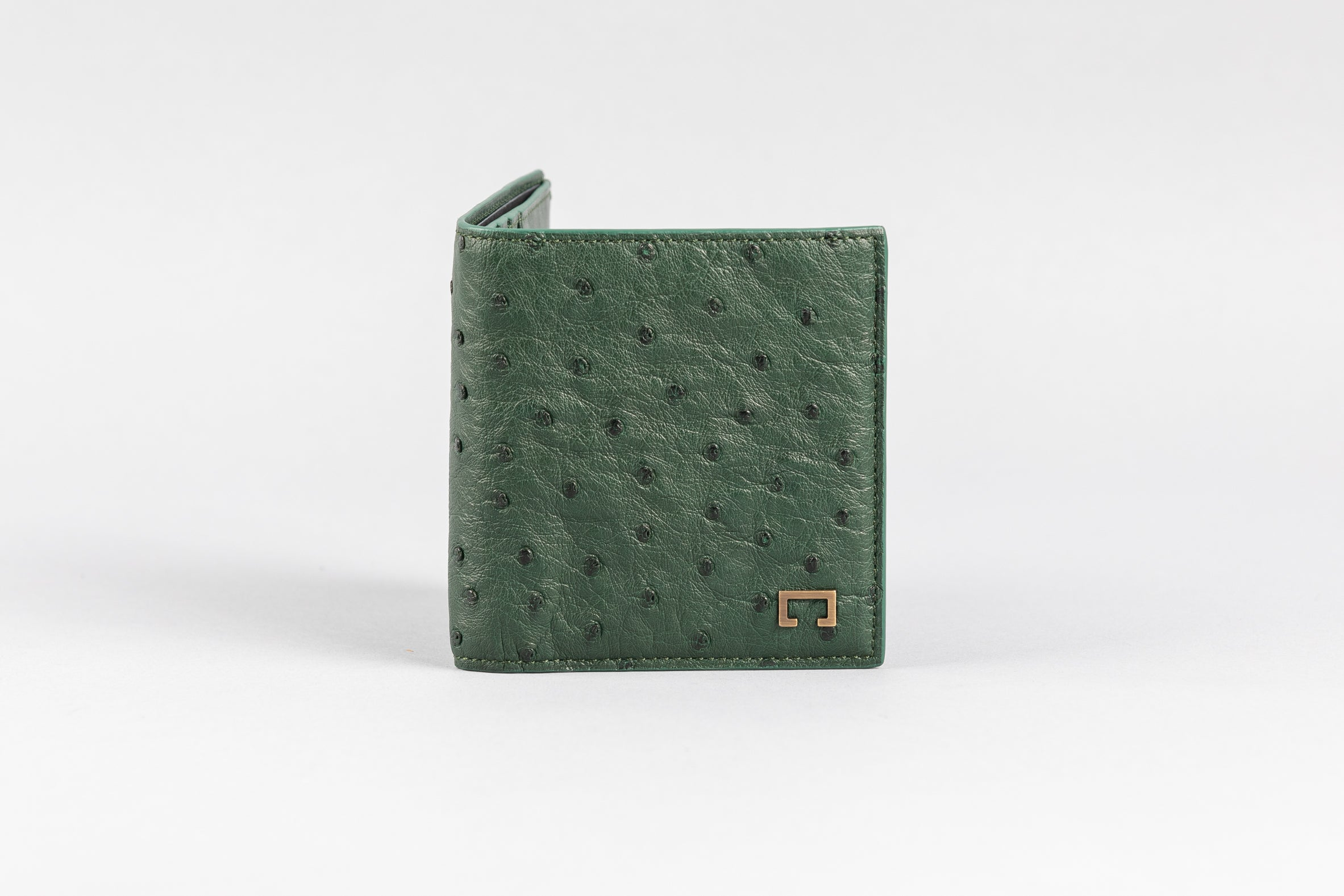 Forest Green Ostrich Wallet (510OS)