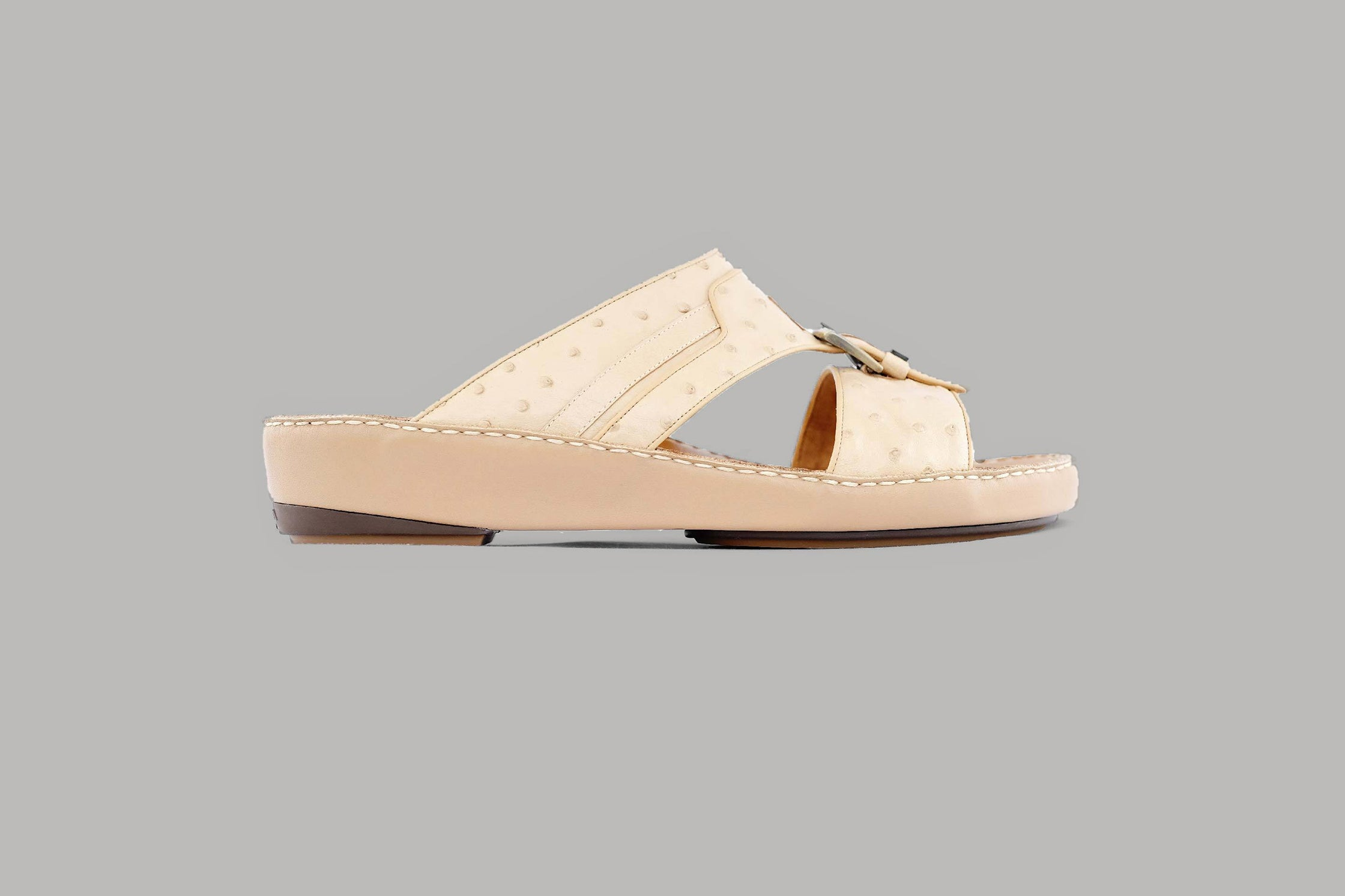 Carpino Struzzo Beige Arabic Sandals (3988OST)