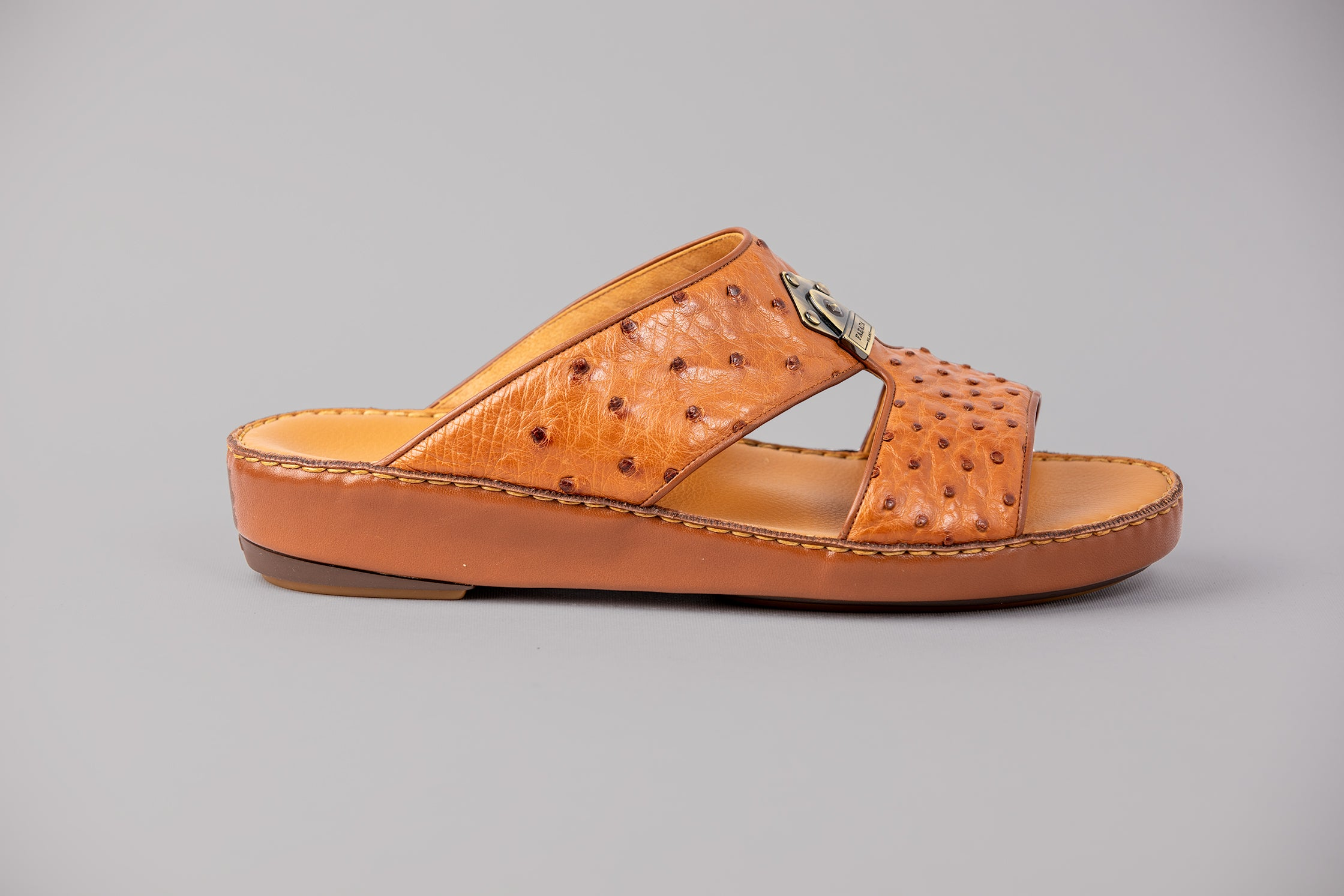 Carpino Struzzo Brown Arabic Sandals (3988OST)