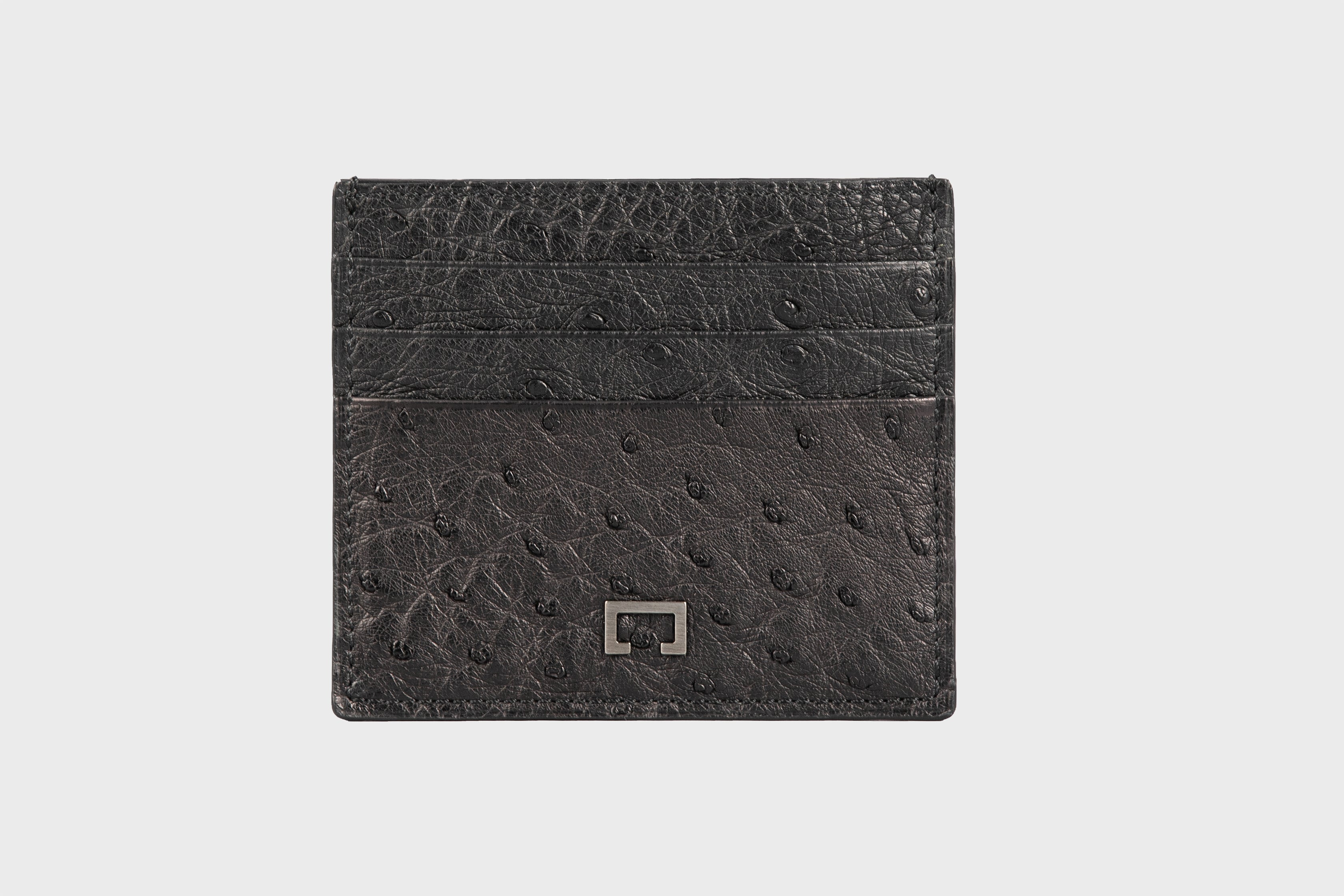 Black Ostrich Card Holder(1944OS)