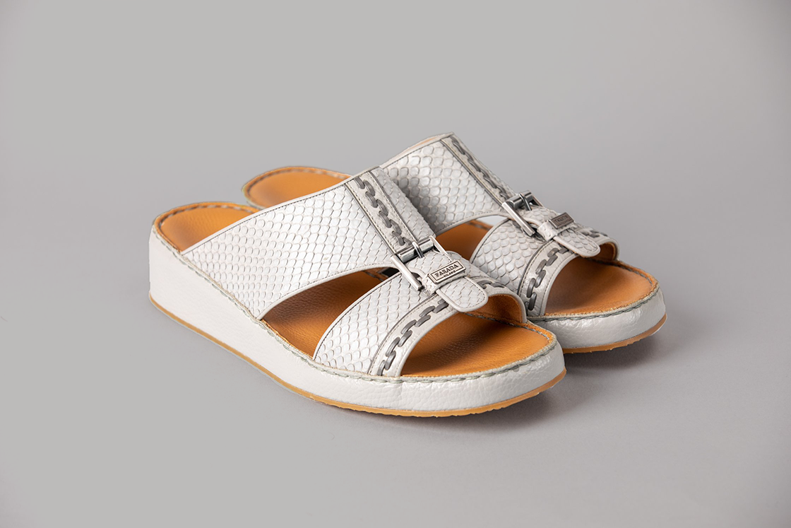 Amico Pitone Grey Arabic Sandals (3892PY)