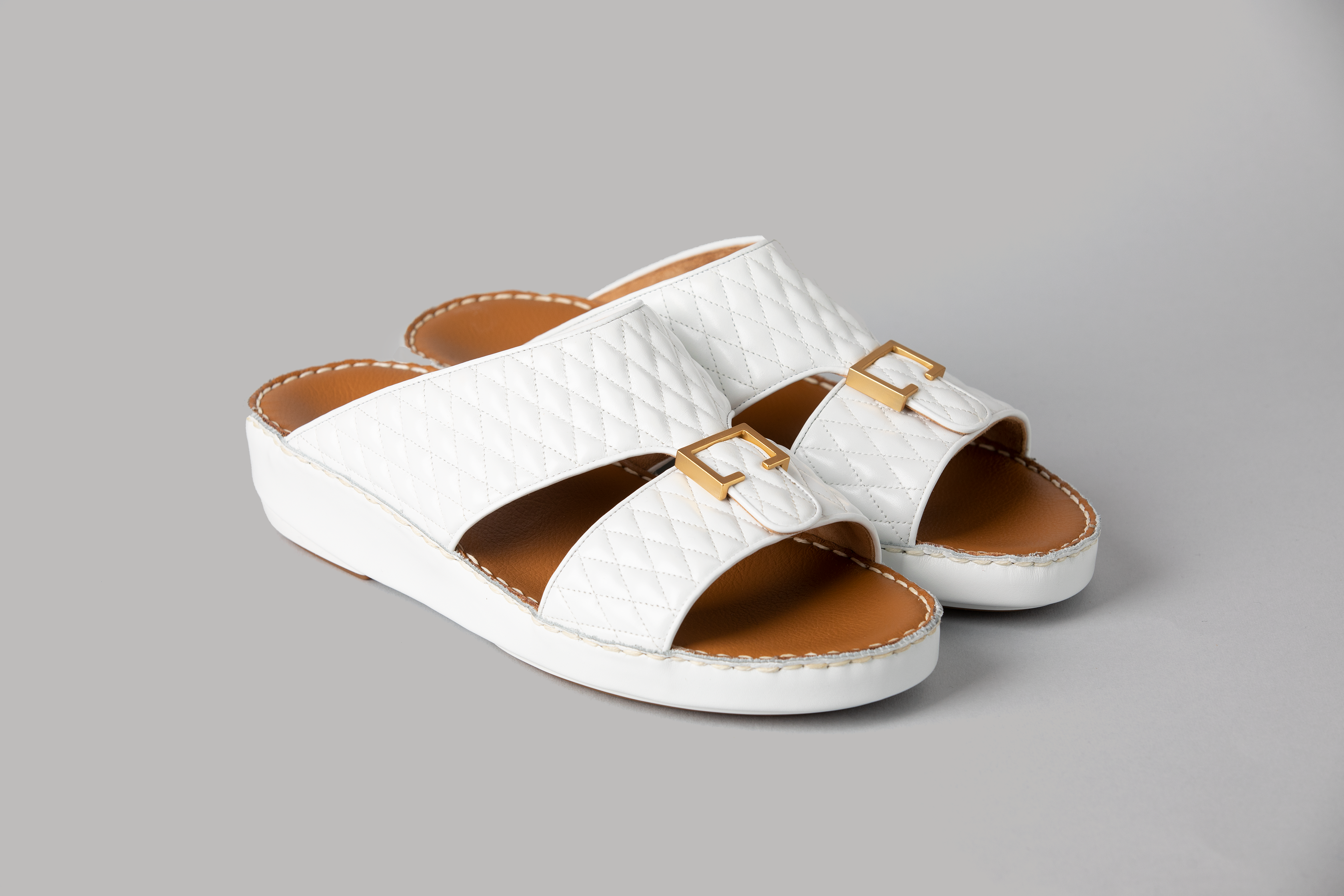Aldo Diamond White Arabic Sandal (4061CA)