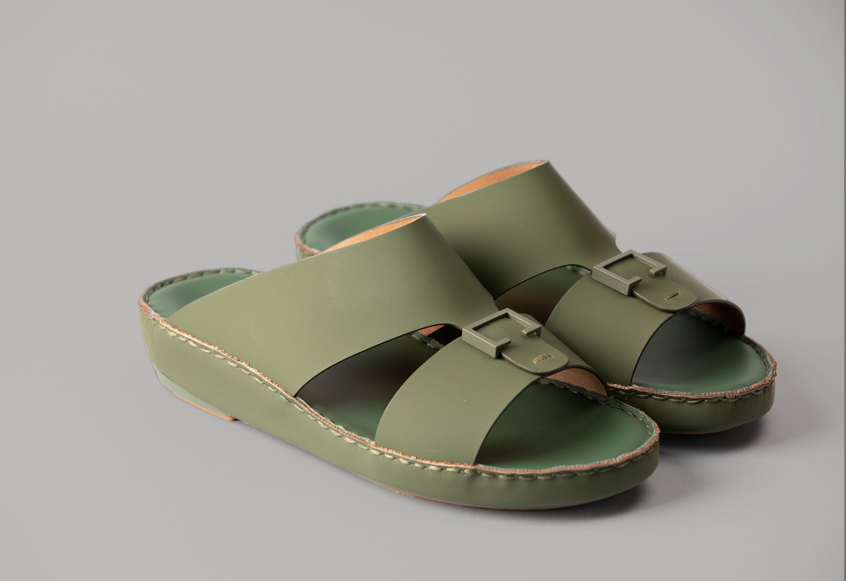 Aldo Diamond Green Arabic Sandal (4061AA)