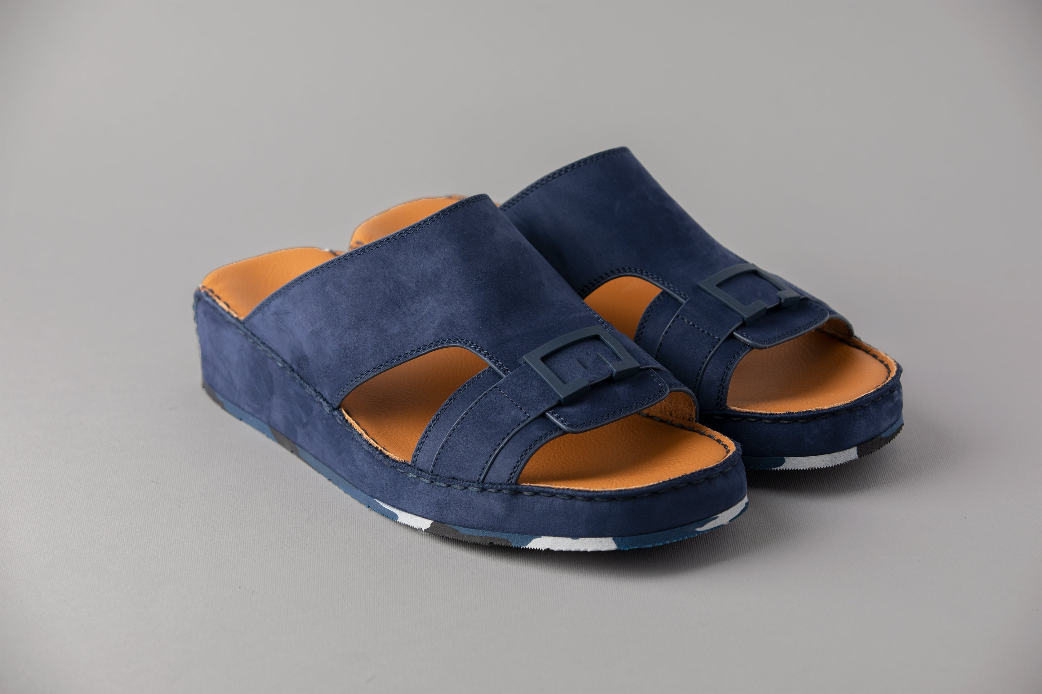 CB Nubuck Navy Arabic Sandal ( 4085AT)