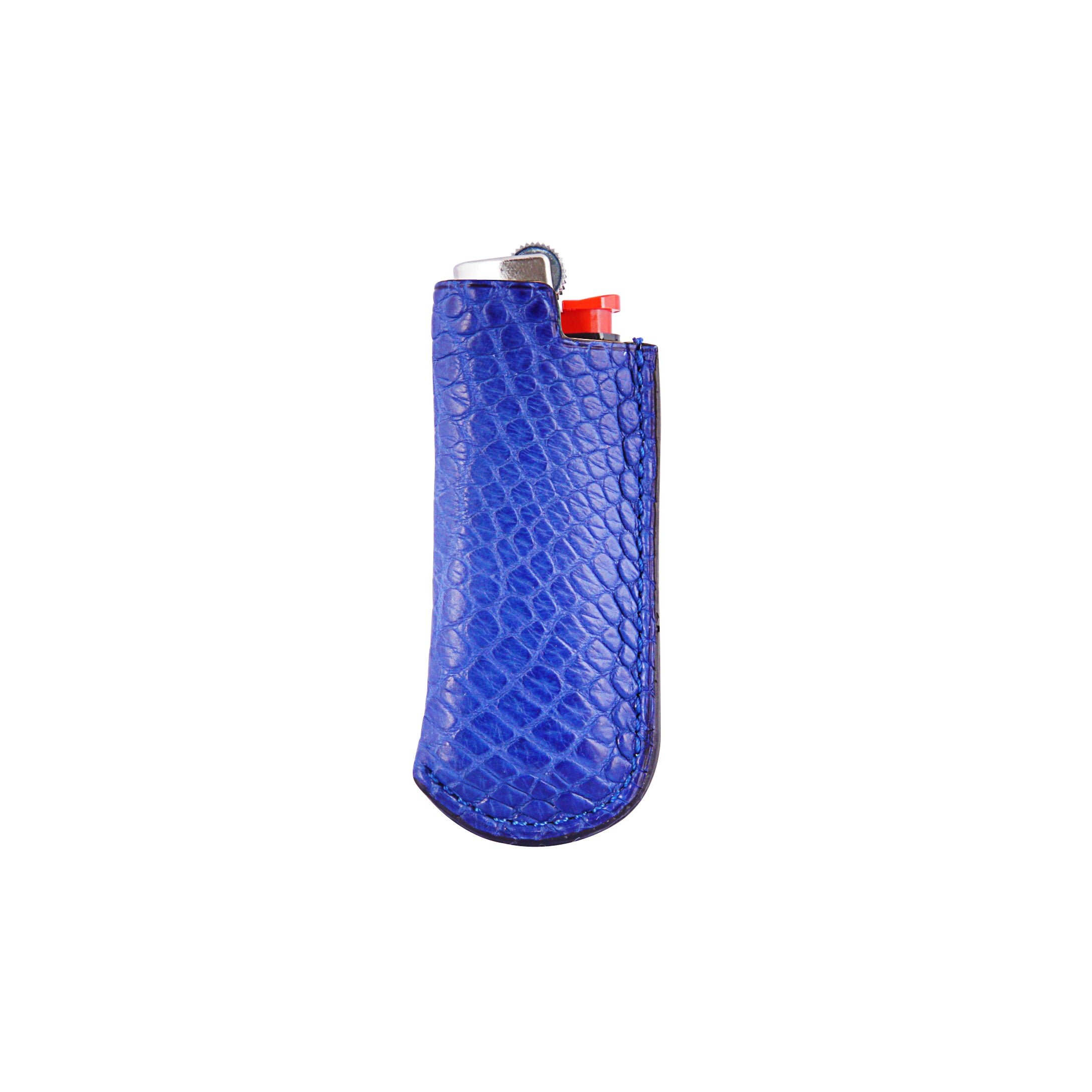 Lighter Case - Royal Blue Crocodile Leather