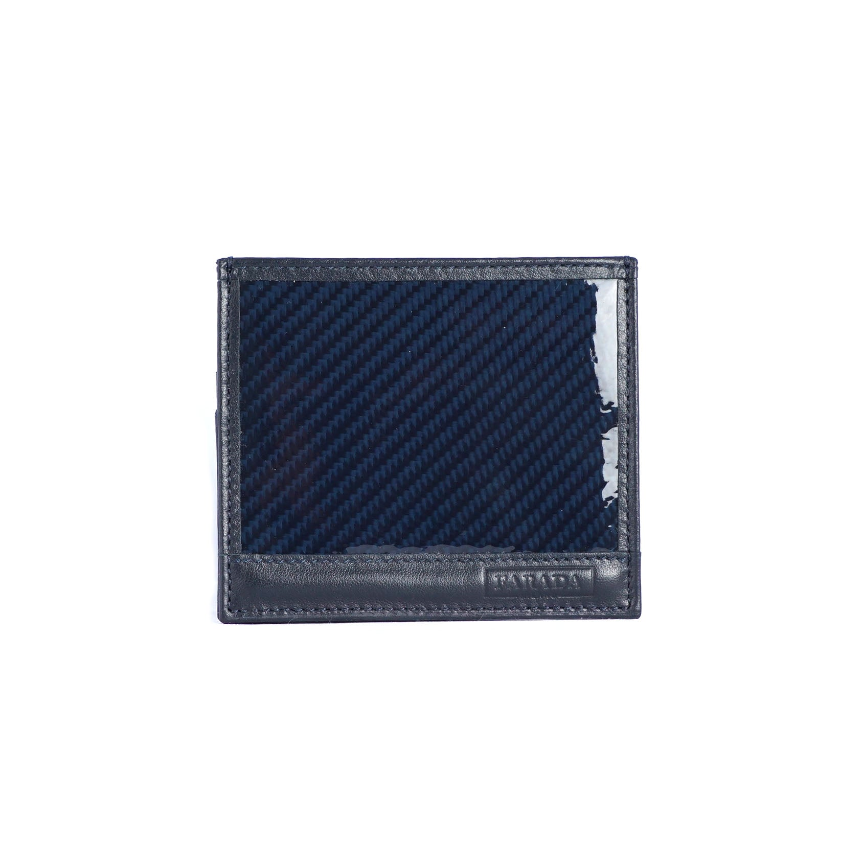 Navy Carbon Fibre Card Holder