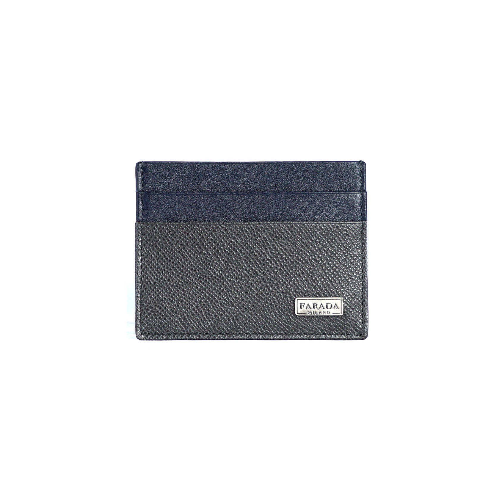 Navy Two Tone Saffiano Card Holder
