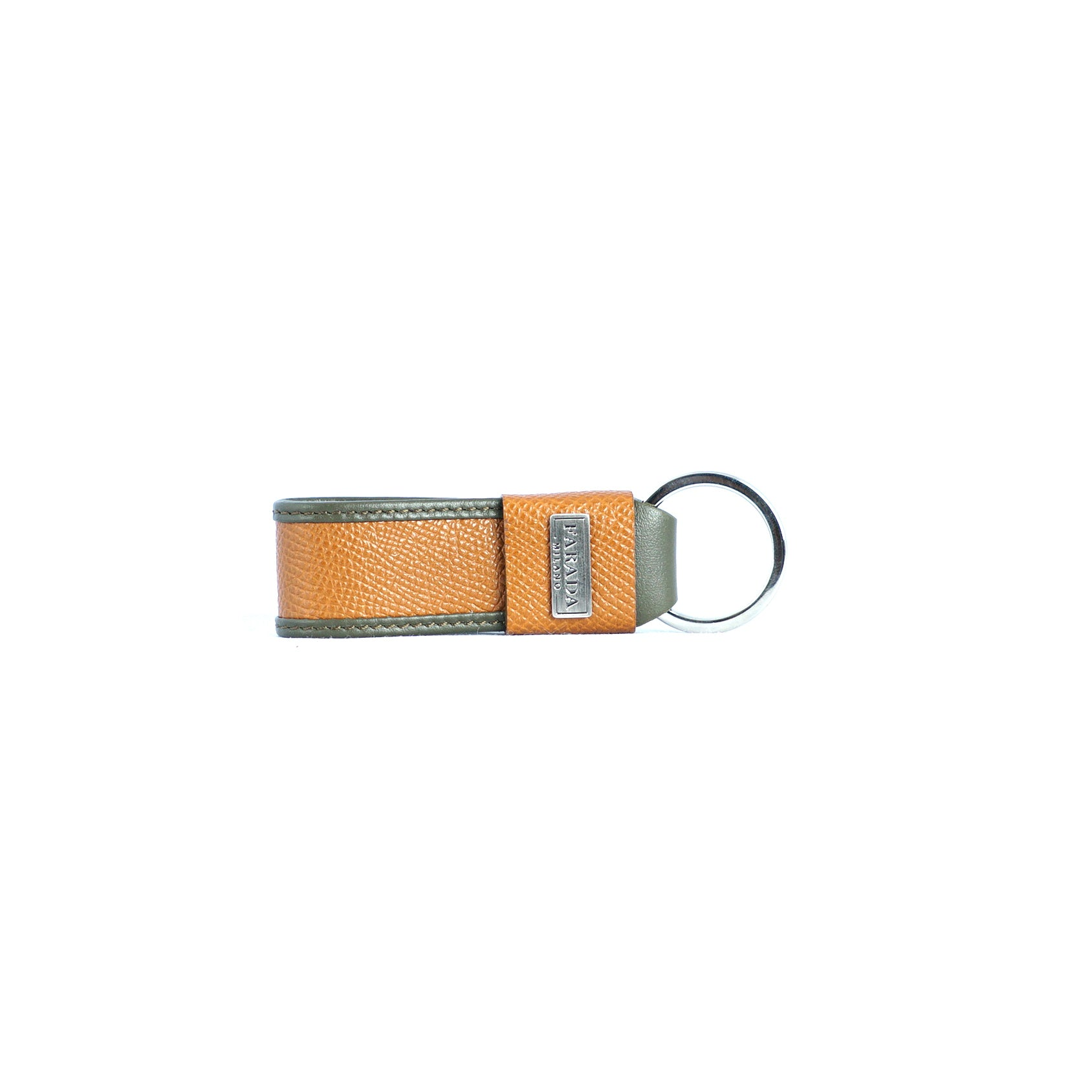 Olive Tan Saffiano Key Chain