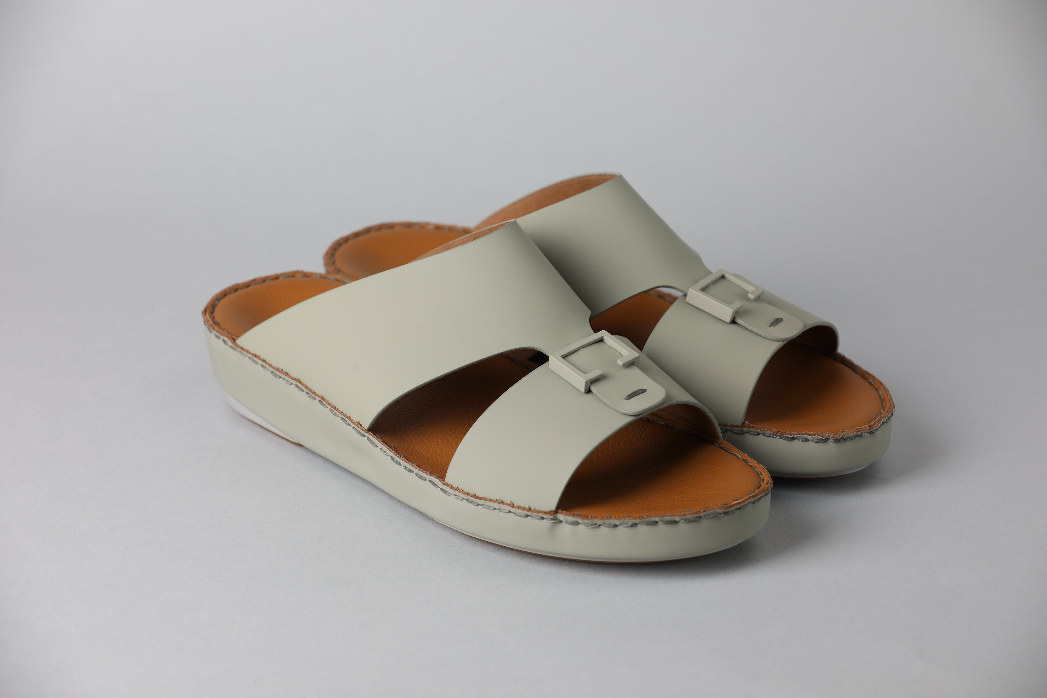 Aldo Diamond Light Grey Arabic Sandal (4061BA)
