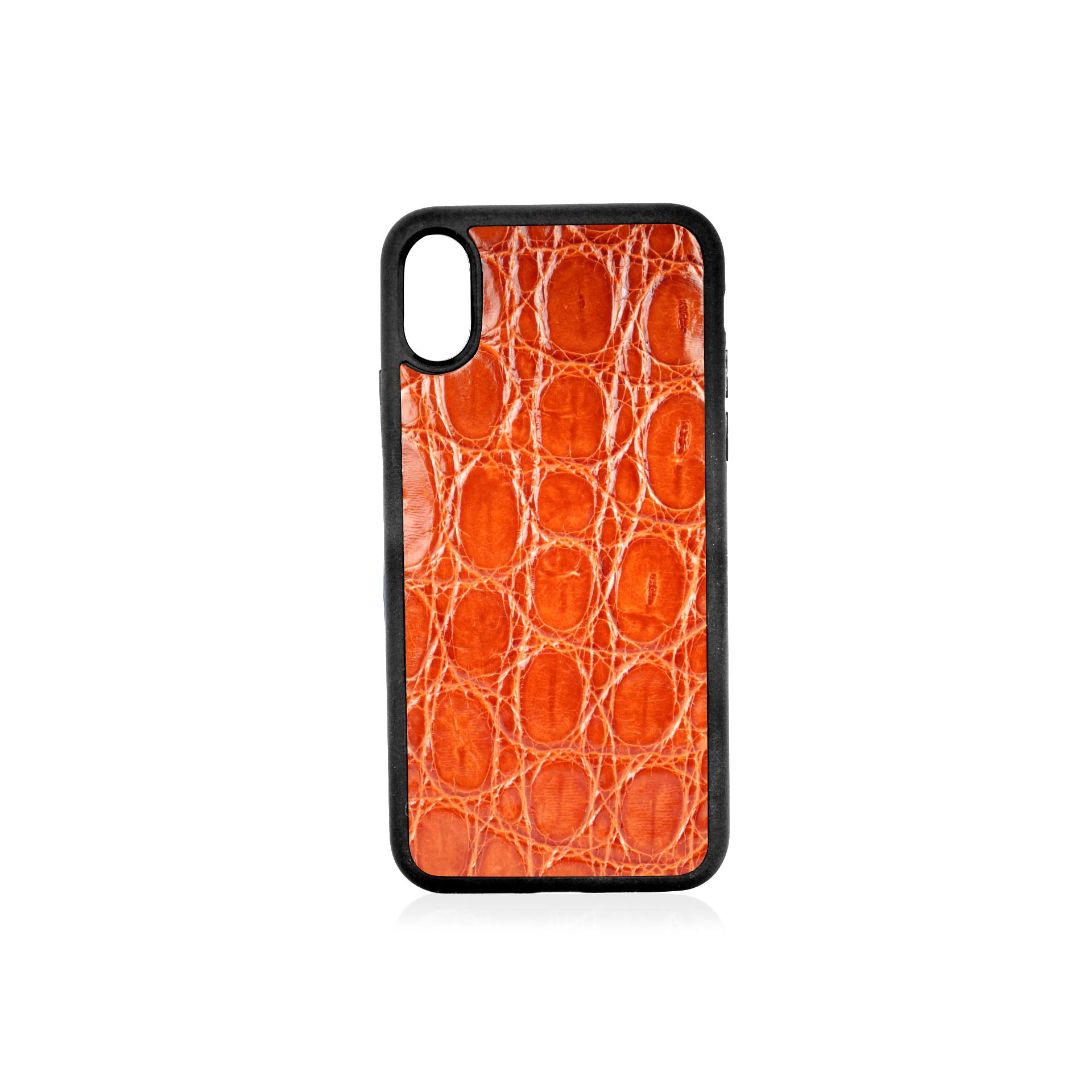 iPhone X Case Croco Tan