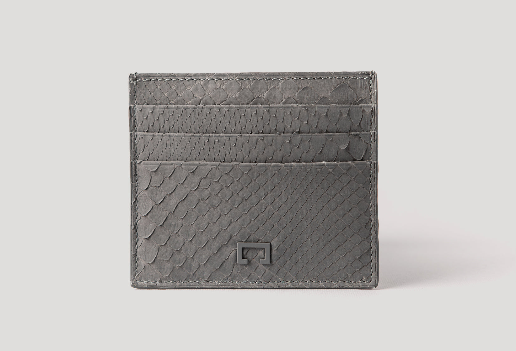 Dark Grey Python Card Holder (1944PY)