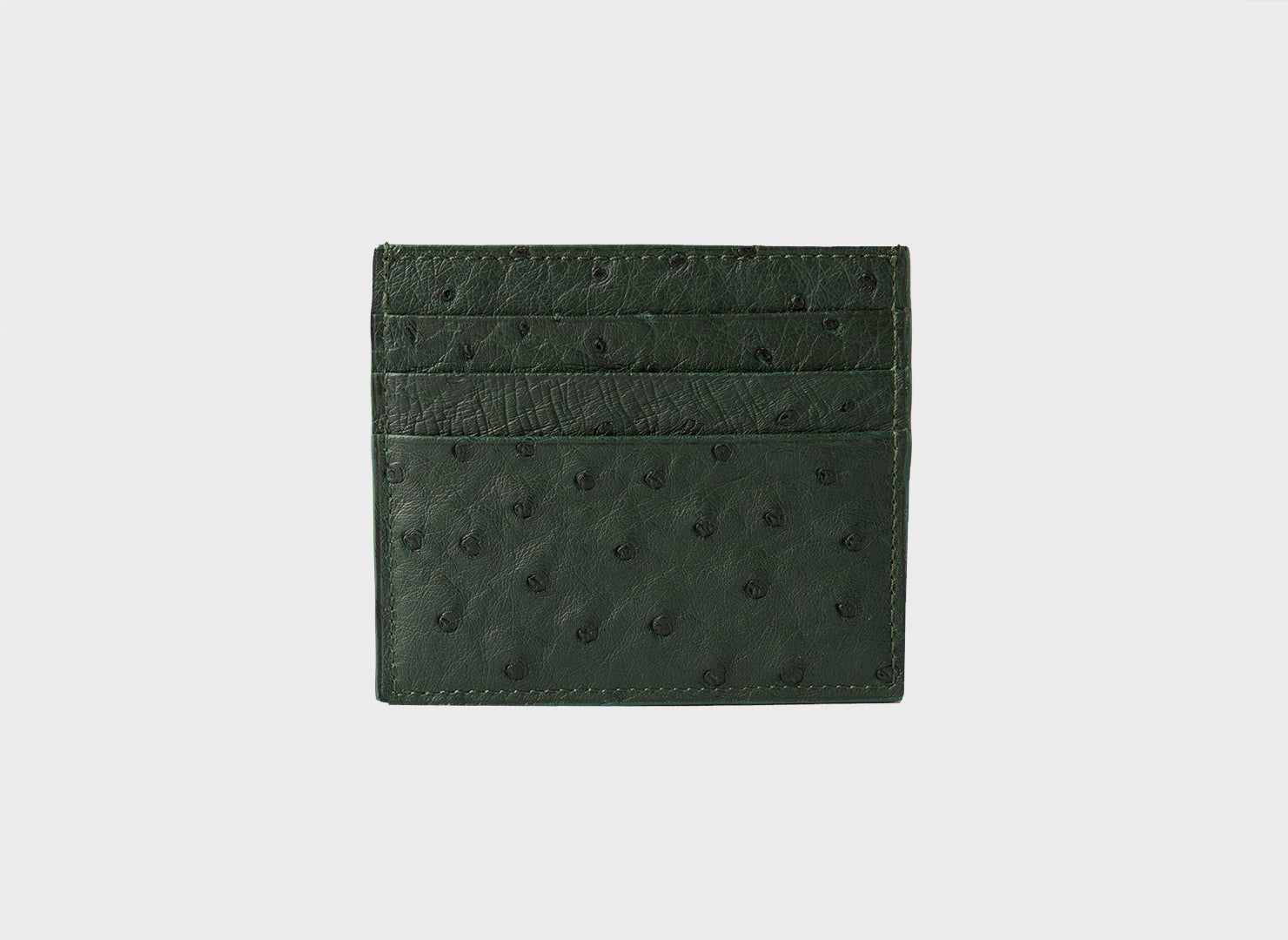 Forest Green Ostrich Card Holder (1944OS)