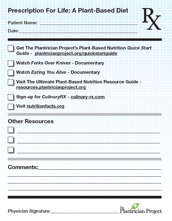 The Plantrician Project Rx Pads: Prescription for Life - 50 pads
