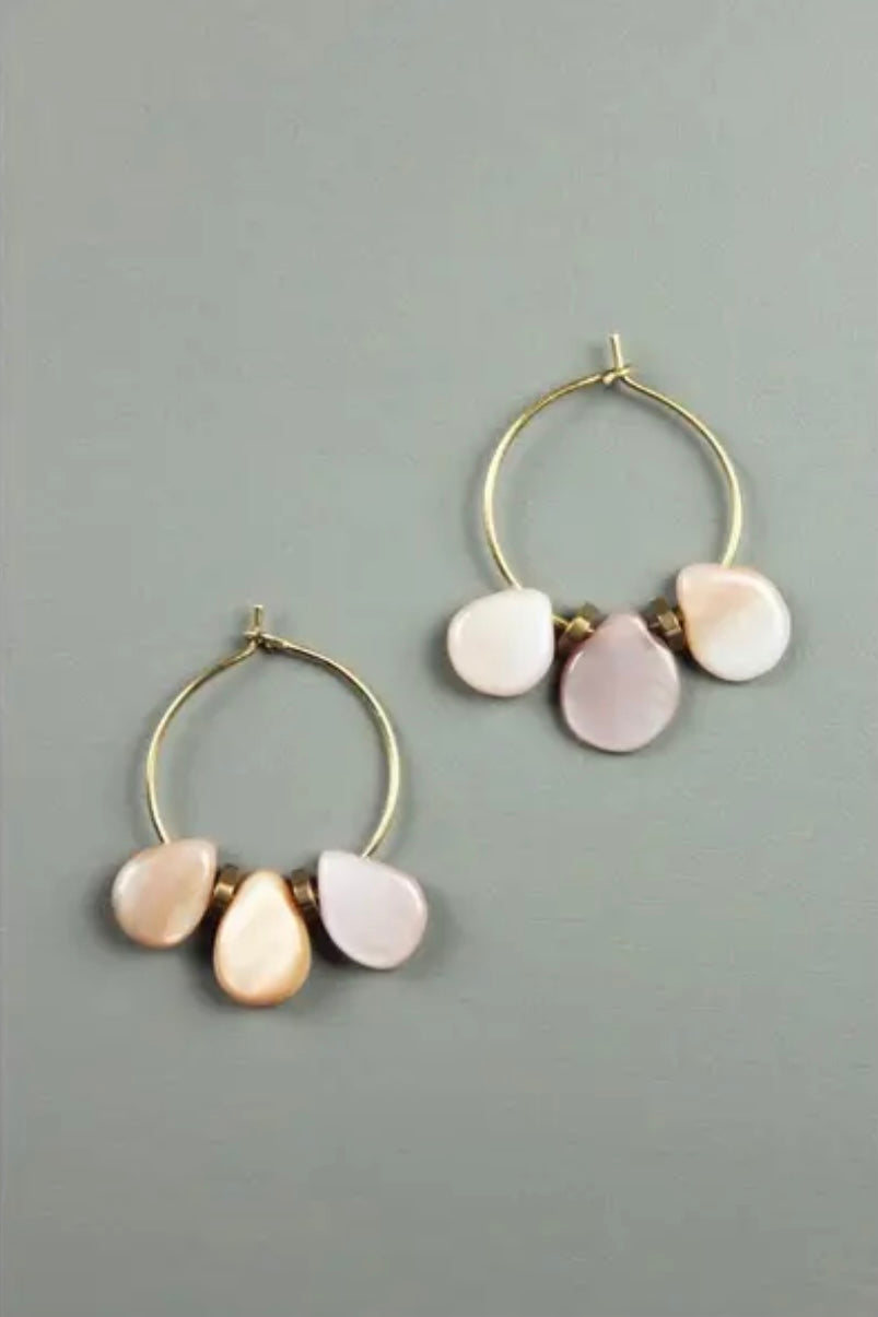 Pink Tear Drop Earring