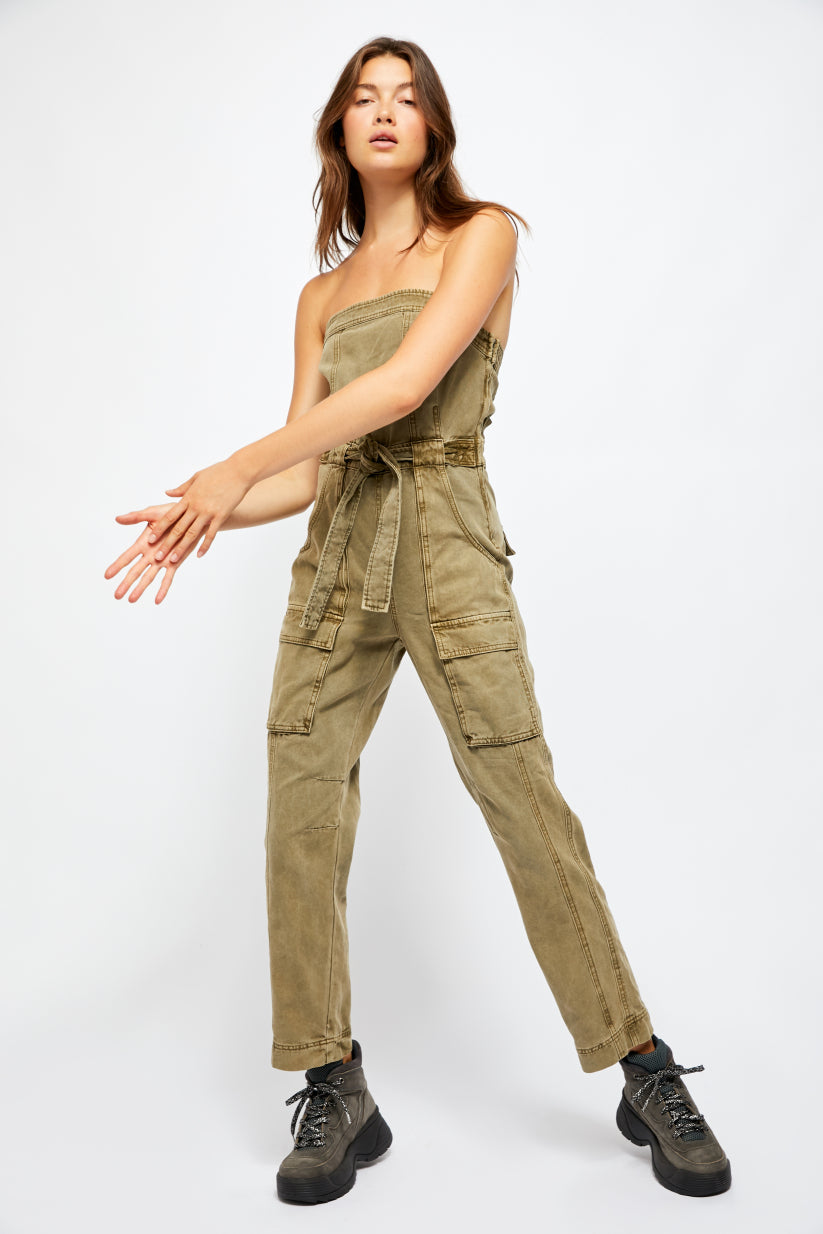 Free People Go West Utility Jumpsuit - Showroom56