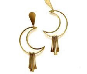 Maya Moon Post Earrings