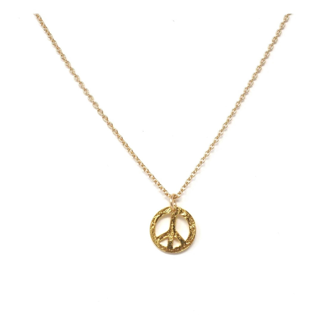 Dainty Peace Sign Necklace