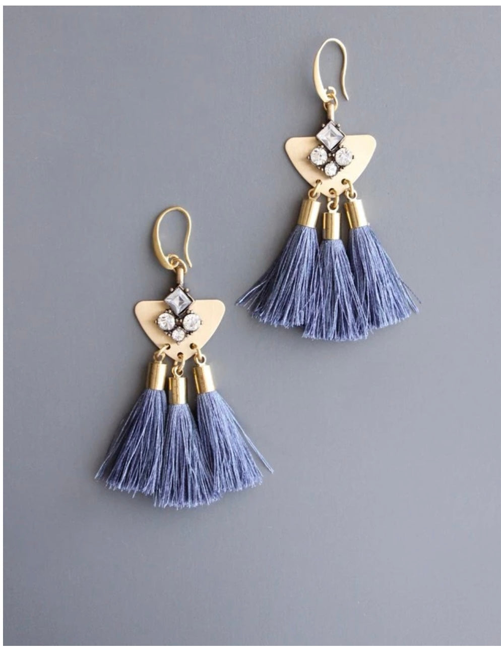 Triple Tassel Earring