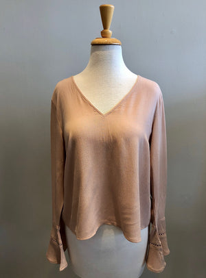 Loveriche Bell Sleeve Detail Top - Showroom56