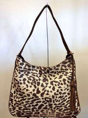 Street Level Leopard Print Hobo Bag - Showroom56