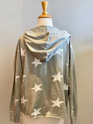 Hem & Thread Striped Star Hoodie - Showroom56