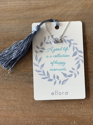 Ellora Infinity Symbol Necklace - Silver on Kindness Card - Showroom56