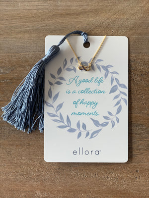 Ellora Infinity Symbol Necklace - Gold on Kindness Card - Showroom56