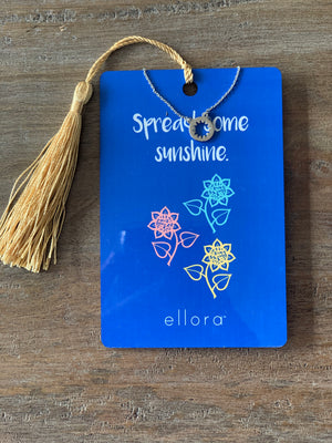 Ellora Open Sunburst Necklace - Silver on Wild and Free Card - Showroom56