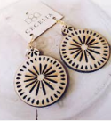 Cecelia Tiered Wooden Earring - Showroom56