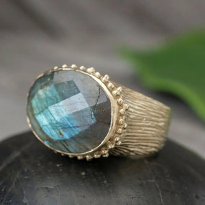 Brass Cocktail Ring