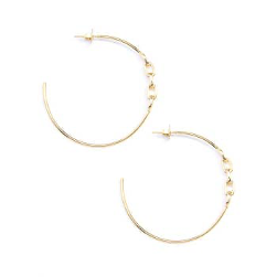 Zenzii Chain Accent Hoop Earrings - Showroom56