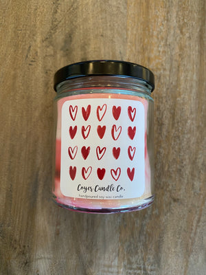 Heart Grid Candle