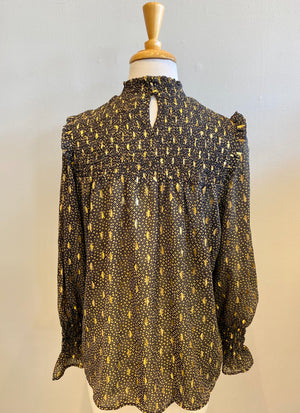 Elan Metallic Fleck Blouse - Showroom56