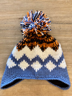Look By M Fair Isle Earflap Hat - Showroom56