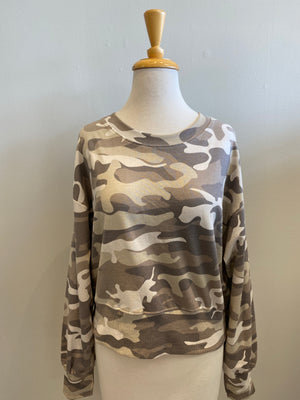 RD International Beige Camo Sweatshirt - Showroom56