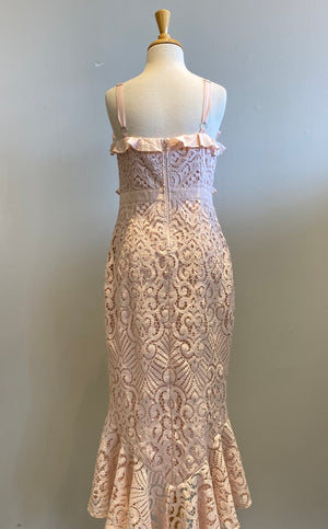 Two Sisters Hi-Lo Lace Dress - Showroom56