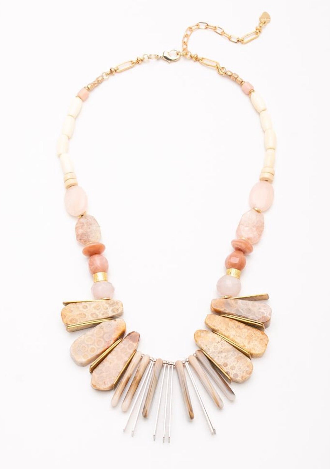 Chuncks Of Gold Necklace
